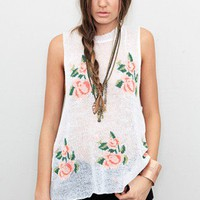 WILDFOX - Prairie Rose Cutoff Tank