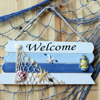 Mediterranean Ocean Style Welcome Sign Door Plate