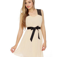 Pretty Blush Dress - Nude Dress - $54.00