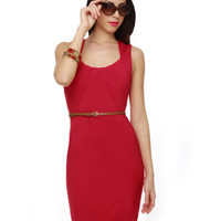 Pretty Red Dress - Sheath Dress - Red Sheath - $56.00