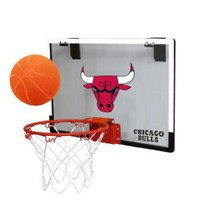 Amazon.com: NBA Chicago Bulls Game On Indoor Basketball Hoop & Ball Set: Sports & Outdoors
