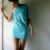 Turquoise Off shoulder dress by larimeloom on Etsy
