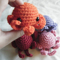 Sea Animals Tiny Amigurumi  3 Piece Bundle Pack  by ChibiSayuri
