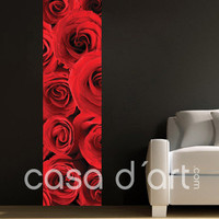Roses Vertical Wall Photomural - 70 cm x 270 cm | 27.6 x 106.3 in