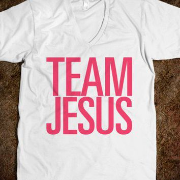 Team Jesus-Unisex White T-Shirt