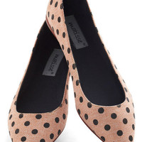 A Dot a Day Flat | Mod Retro Vintage Flats | ModCloth.com