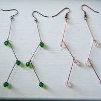 Tree Branch Tiered Earrings - Choose Color and Finish