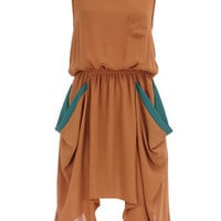 Camel pocket chiffon dress - View All Sale  - Sale  Offers  - Dorothy Perkins