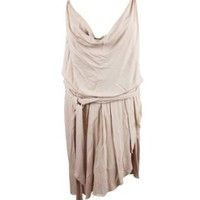 Amazon.com: Haute Hippie Womens Cowl Front Belted Sleeveless Dress: Clothing