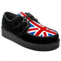 Serena Black British Flag Brothel Creepers - Flat shoes  - Footwear