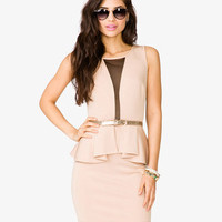 Scuba Knit Peplum Dress | FOREVER 21 - 2046617390