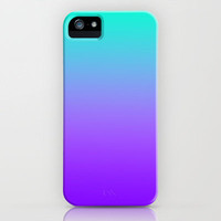 PURPLE & TEAL FADE iPhone Case by nataliesales | Society6