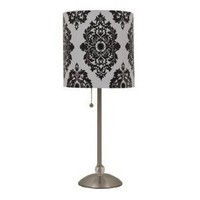 Amazon.com: Stick Lamp - Damask (Includes CFL Bulb), Black and White Stick Lamp: Home Improvement