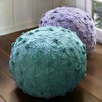 Pintuck Jersey Pouf