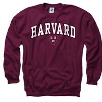 Harvard Crimson Youth Maroon Perennial II Crewneck Sweatshirt: Sports & Outdoors