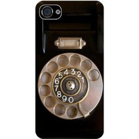 Rikki KnightTM Retro Rotary Telephone Black Case Cover for Apple iPhone 4 / 4s Universal: Verizon - Sprint - AT&T-Unisex (New and Improved 2013 version): Cell Phones & Accessories