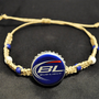 Blue Bud Light Recycled Beer Cap Hemp Macrame Fully Adjustable Bracelet