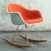 Eames Padded Fibreglass Rocking Chair