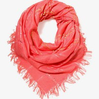 Embroidered Open Knit Scarf | FOREVER 21 - 1039088542
