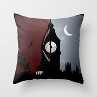 Peter Pan Throw Pillow by Rowan Stocks-Moore