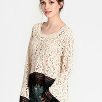 Sarah Lace Top By Dress The Population - $149.00 : ThreadSence, Women's Indie & Bohemian Clothing, Dresses, & Accessories