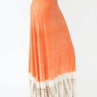 dip-dye-maxi-skirt ORANGE - GoJane.com