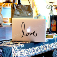 love-Decal for Macbook Pro, Air or Ipad Stickers Macbook Decals Apple Decal for Macbook Pro / Macbook Air