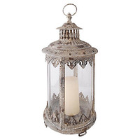 "One Kings Lane - Outdoor Accents - 19"" Aged-Metal Lantern"