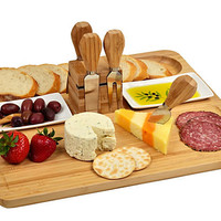 One Kings Lane - Picnic at Ascot - Sherborne Bread &amp; Cheese Serving Set