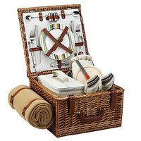 One Kings Lane - Picnic at Ascot - Cheshire Basket for 2 w/ Blanket