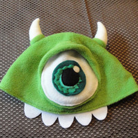 $36.00 READY TO SHIP  Mike Wazowski Beanie Inspired by by FairlyEnchanted