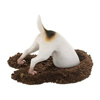 Terrence the Terrier Digging Pet Dog Statue - QL6522                       - Design Toscano