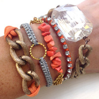 Coral Darling Arm Candy Bracelet Stack Set