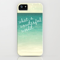 wonderful world iPhone Case by Sylvia Cook Photography