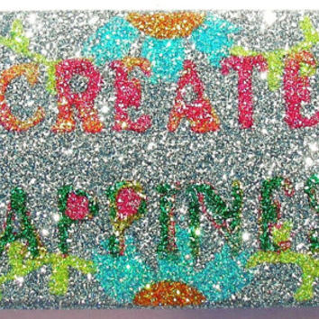 Sparkly Create Happiness iPhone 4/4G OR iPhone 5 Cell Phone Case