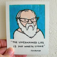 Funny Magnet Philosophy Geek Socrates by SimplyCutebyKarin on Etsy