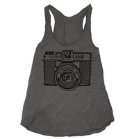 Womens RETRO CAMERA american apparel TriBlend by happyfamily