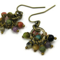 Multicolor Cluster Earrings - leafandtendril.com