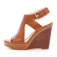 MICHAEL Michael Kors  Josephine Leather Wedge Sandal - Michael Kors