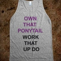Own That Ponytail - J - Jordan Designs