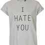 I Hate You Tee By Tee And Cake - Brands at Topshop - Jersey Tops - Clothing - Topshop