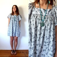 Vintage Mini Dress Hippie Muu Muu