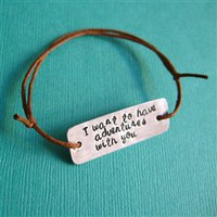 Quote Tie on Bracelet - Spiffing Jewelry