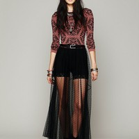Free People Dot Mesh Skirt