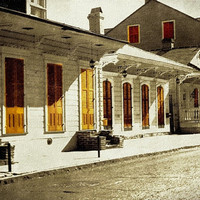 New Orleans Fine Art Print, Shotgun Row, Architecture Art Print, Old World Effect, Ready to Frame, 4x6 Fine Art Print in 5x7 acid free mat