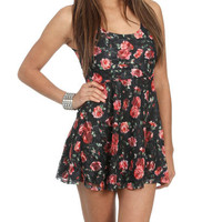 Printed Lace Skater Dress | Shop Just Arrived at Wet Seal
