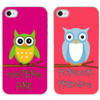 Sisters are Best Friends OWL iphone case. iphone 4/4s