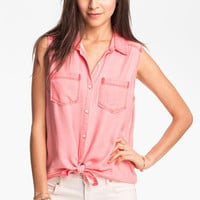 Rubbish Sleeveless Workwear Shirt (Juniors) | Nordstrom
