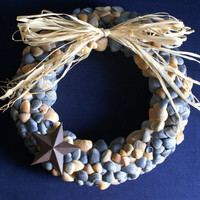 Seashell wreath Western style by JustShellin on Etsy