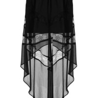 Petite Lace Insert Maxi Skirt - Topshop USA